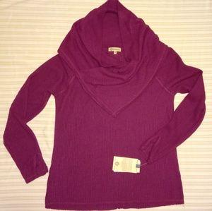 Democracy maroon burgundy cowl neck sweater top